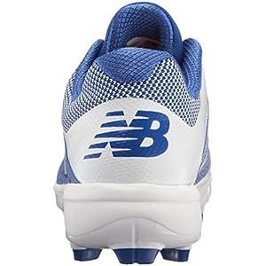 New Balance Men's PL4040v4 Molded Baseball Shoe, Royal/White, 7 D US