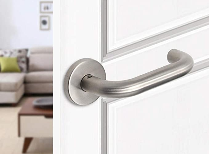 Pomos para puertas,Tirador de puerta tirador de puerta de habitación mango de madera mango de acero inoxidable @ 2 artículo: Amazon.es: Bricolaje y herramientas