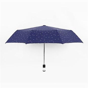 Paraguas automático Sunny paraguas del doblez del anti-UV Tres Hombres Y Mujeres doblez Doble