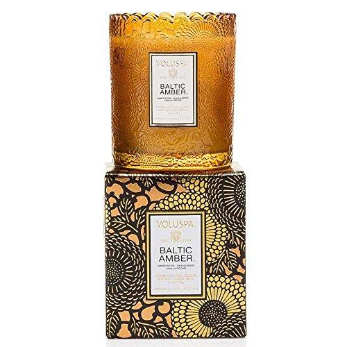 - Voluspa Baltic Amber Scalloped Candle Ltd Edition