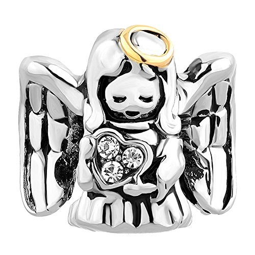 LovelyJewelry Guardian Angel Prayer Protect Me Charm Beads For Bracelet (Style 2) (Charm Pandora Bowling)