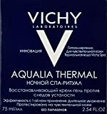 Vichy Aqualia Thermal Night Spa Replenishing Anti-Fatigue Night Cream and Face Mask with Hyaluronic Acid, 2.54 fl. Oz.