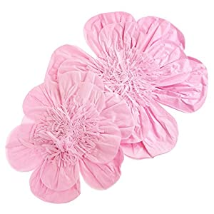 Homeford Paper Scalloped Magnolia Wall Flower, Assorted Sizes, 2-Piece (Pink) 88