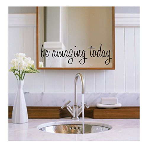 Today Waterproof Removable Decal Mirror Quotes Vinyl Wall Decals Walls Stickers Home Decor ()