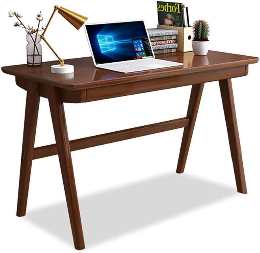Desk Solid Wood Office Table with Drawer, Heavy Duty Office Desk Writing Study Desk Durable for Home Pc Laptop-b1 80x55cm/31.5x21.6in