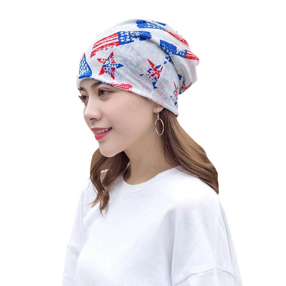 Elegante turbante mujer, sombrero de múltiples funciones de la bufanda gorro de quimioterapia sombrero de gorro elástico sombrero de hip-hop para mujeres Cap para la pérdida de cabello cáncer quimio Jerome10Dan
