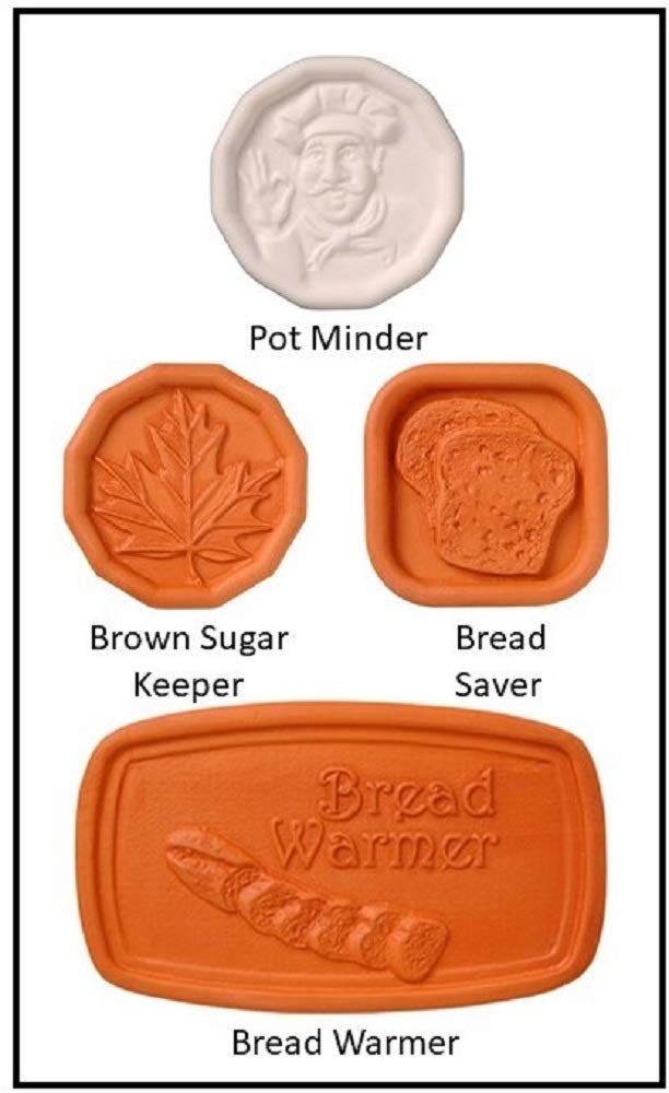 Brown Sugar Keeper, Bread Saver, Pot Minder, Bread Warmer Assorted Cook's Helper Collection by Furnish My Homestead – The Perfect Hostess Gift or Party Favor for Lunch or Afternoon Tea Guests. JBK Pottery