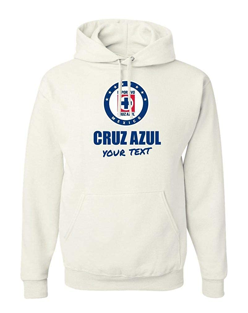 Cruz Azul La Maquina Hooded Hoodie Hoody Sudadera with Free Custom Text(Optional) at Amazon Mens Clothing store:
