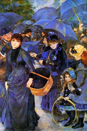 Pierre Auguste Renoir The Umbrellas French Impressionist Painting Poster 24x36 inch