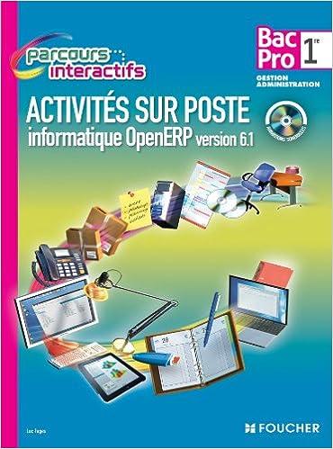 Livre gratuits Activités sur poste informatique openERP version 6.1. 1re Bac Pro epub pdf