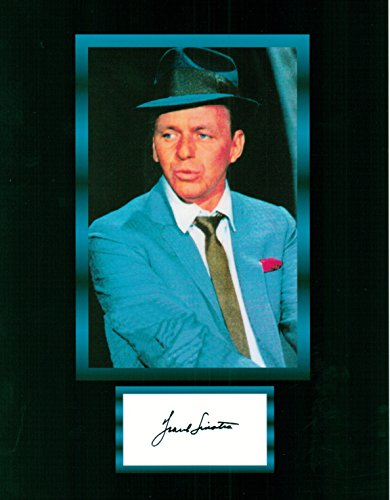 Frank Sinatra, 8 X 10 Photo Display Autograph on Glossy Photo Paper