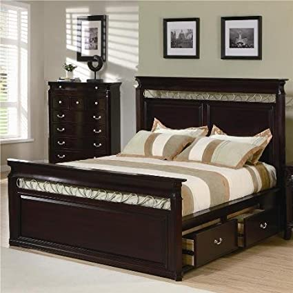 Amazon.com - Birmingham Storage Bed Queen - Coaster 201311Q ...