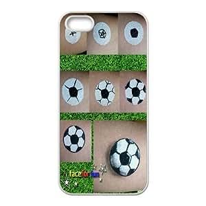Custom Soccer Ball Iphone 5,5S Phone Case, Soccer Ball DIY Cell Phone Case for iPhone 5,iPhone 5s at Lzzcase