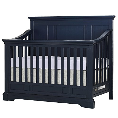 Evolur Parker 5 in 1 Convertible Crib, Distress Navy by Evolur