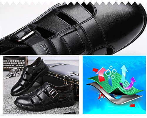 CMM Men Leather Business Sandals Beach Casual Shoes Strap Hiking Size 9 by CMM (Image #5)