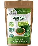 Moringa Oleifera Leaf Powder Organic 16oz - 1lb. Non GMO multivitamin for metabolism, weight loss, protein & mood boost – in smoothies – vegans & vegetarians - iron & amino acids supplements