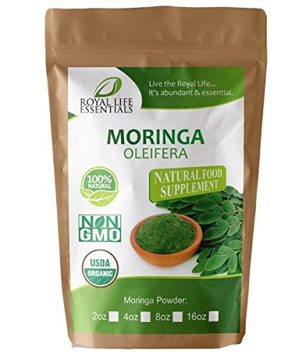 Moringa Oleifera Leaf Powder Organic 2oz Non GMO multivitamin for metabolism, weight loss, protein & mood boost - in smoothies & shakes - vegans & vegetarians - iron & amino acids supplements