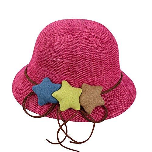 De Vacance Rouge Fille Chapeau Enfant Pêcheur Eté Acvip Pour Rose Plage soleil Bébé 7zqgnI