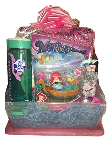 Mermaids Have More Fun Gift Basket featuring Barbie Dreamtopia Mermaid Doll and a Mermaid Tail Blanket - Ideal ideas for Girls and Teens for Easter, Birthdays, Get Well, or Just Because! (Disney Gift Baskets)