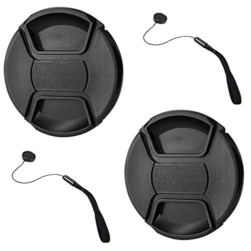 GAOAG 2 Pack 52mm Center Pinch Lens Cap for Nikon Canon Sony DSLR Camera Compatible with Nikon D3000 D3100 D3200 D3300 D5000 D5100 D5200 D5300 D5500 and Any Lenses with 52mm Filter Thread from GAOAG