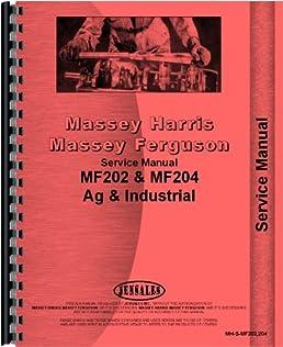 massey ferguson 202 tractor service manual 1958 1967 massey rh amazon com Massey Ferguson 135 Diesel Tractor Massey Ferguson 1130