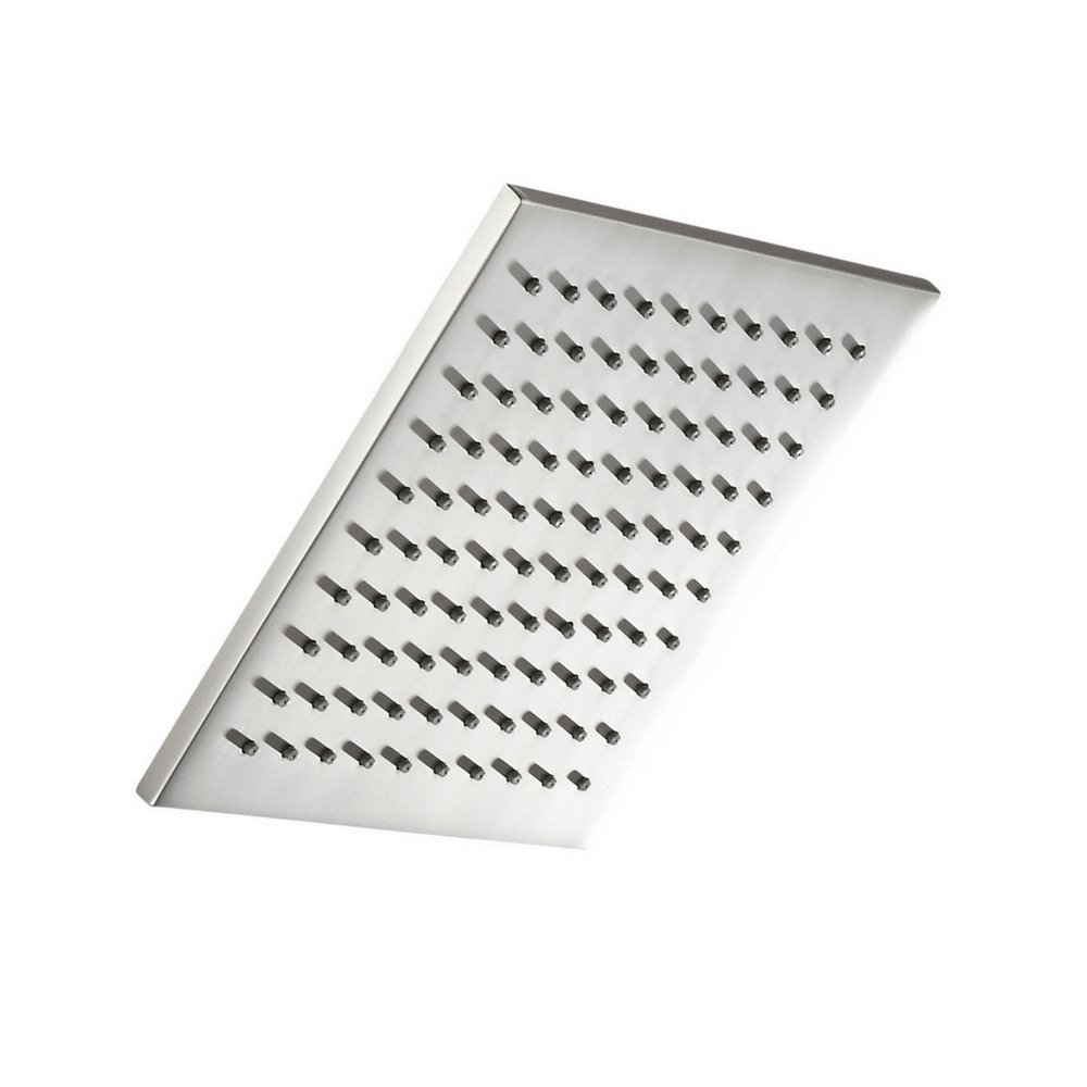 100% METAL Rain Shower Head Square 8 Inch Rainfall Showerhead with 2.5 GPM High Pressure Water Flow | Large Luxury Rainshower for Wall Mount, Overhead, or Ceiling Mounted Waterfall | Brushed Nickel by HammerHead Showers (Image #1)