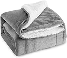 Bedsure Fuzzy Soft Sherpa Blanket Microfiber 5 Colors 3 Sizes
