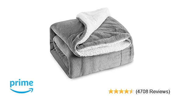 5c80322eda2755 Amazon.com: Bedsure Sherpa Fleece Blanket Queen Size Grey Plush Throw  Blanket Fuzzy Soft Blanket Microfiber: Home & Kitchen