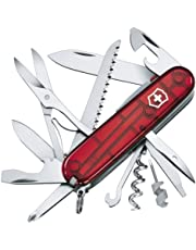Victorinox Couteau d'officier Huntsman Lite rouge transparent
