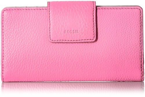 Fossil Emma RFID TAB Wallet, Neon Pink