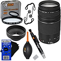 Canon EF 75-300mm f/4-5.6 III Telephoto Zoom Lens for Canon SLR Cameras - International Version (No Warranty) +