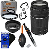 Canon EF 75-300mm f/4-5.6 III Telephoto Zoom Lens for Canon SLR Cameras (International Version) + 7pc Bundle Accessory Kit w/ HeroFiber Ultra Gentle Cleaning Cloth