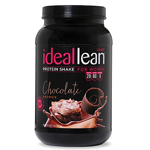 IdealLean, Protein Powder for Women, Chocolate Brownie, 20g Whey Protein Isolate, Calcium, Folic Acid, 0g Sugar, 0g Fat, 0 Carbs, 30 Serving