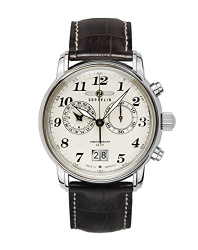 Zeppelin Series LZ127 Graf Zeppelin Men's Chrono Date Analog Watch 7684-5 (Best German Watches Under 500)