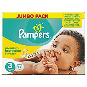 Pampers New Baby Nappies Size 3 Total 68 Nappies