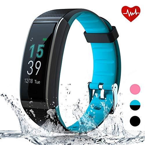 AKASO Pulsera de Actividad Inteligente GPS Deportiva Impermeable Hombre Mujer Smartwatch Pulsómetro con Monitor de Ritmo Cardíaco Sueño Caloría Podómetro Pantalla a Color iOS Android Compatible