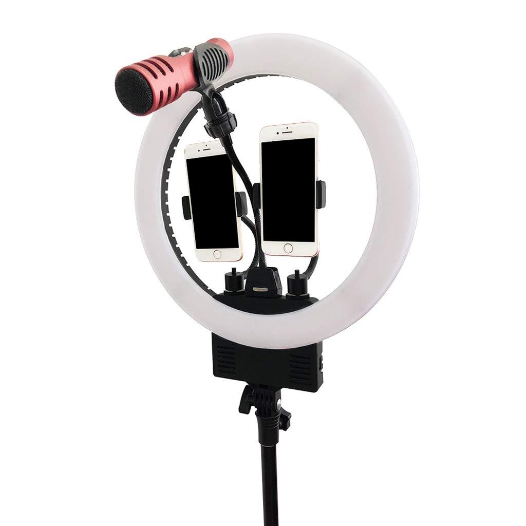 Peaceip US 13.5インチリングライト調光対応LEDライト付き三脚スタンドUSB充電LED色温度ディスプレイ(YouTube、Facebook用)   B07MV81GXW