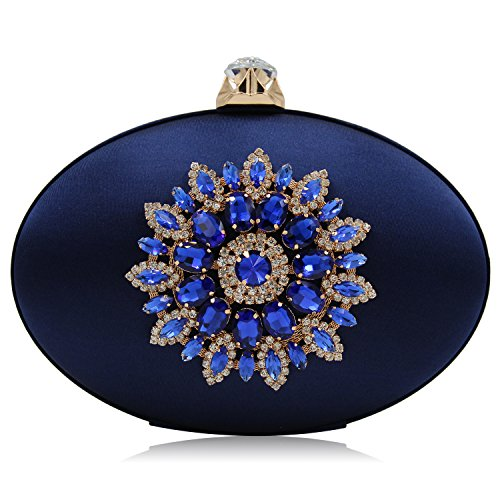 Royal Blue Satin Rhinestone - 6