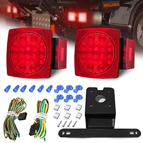 AMBOTHER LED Boat Trailer Lights Kit Submersible Tail Light Running Stop Turn Signal Brake Marker Reversing Backup Light for Truck RV Van Marine Pickup Bus Towing Vehicle - Marker Rite Best Combination