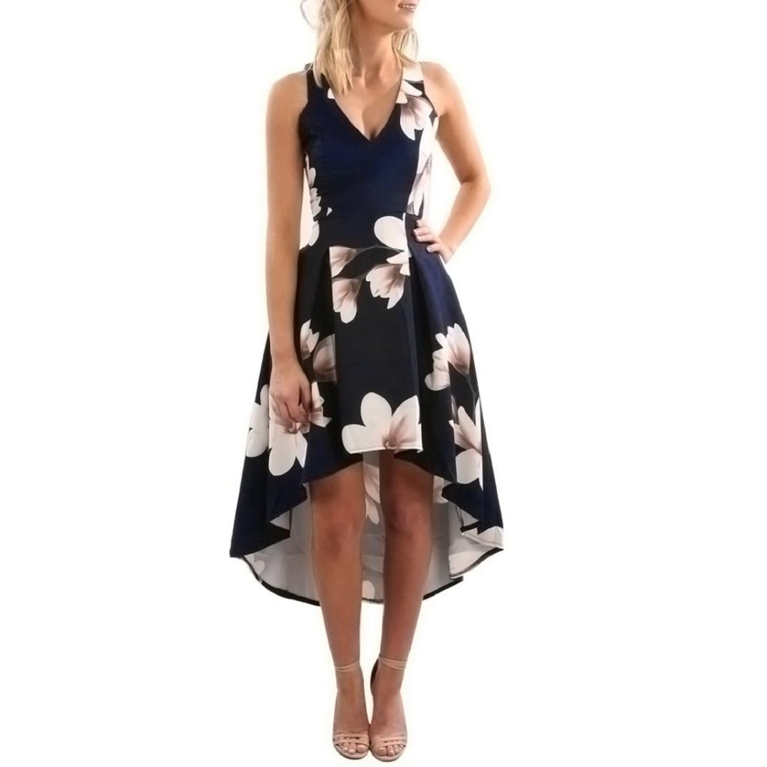 GONKOMA Womens Floral Print Long Dress Summer Boho Maxi Dress Beach Sundress XWJ520