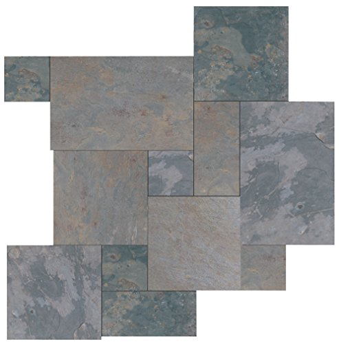 (Dal-Tile S771PATTERN1P Slate Tile Indian Multicolor x 6 9/16