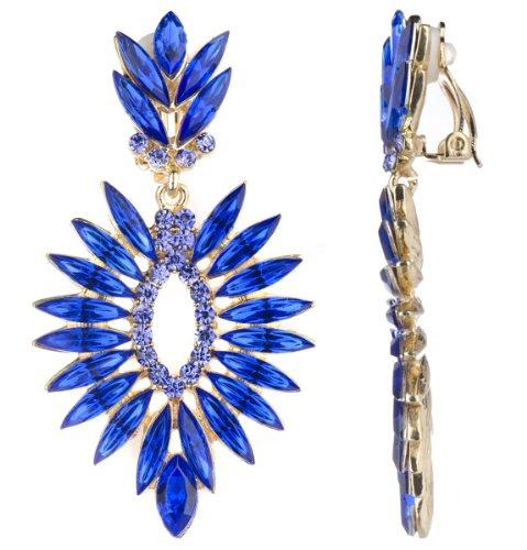 Sigrid's Blue Marquise Cut Fancy Clip On Earrings