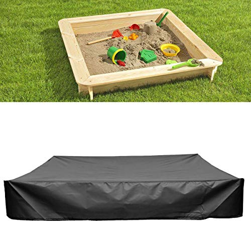 - dDanke Black Sandbox Covers with Drawstring As Sandpit Cover Pool Cover - 95% UV Protection Dustproof - Prevent Leaves & Animal Waste (70.87x70.87x7.87 inch)