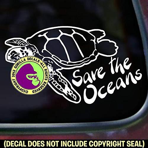 SAVE THE OCEANS - SEA TURTLE Ocean Vinyl Decal Sticker A