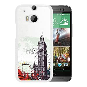 New Beautiful Custom Designed Cover Case For HTC ONE M8 With Graffiti London (2) Phone Case