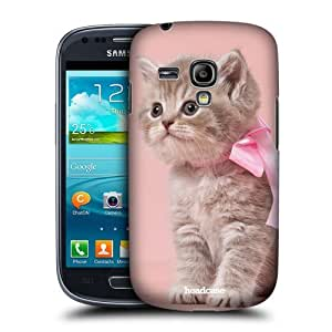 AIYAYA Samsung Case Designs Kitten with Pink Bow Cats Protective Snap-on Hard Back Case Cover for Samsung Galaxy S3 III mini I8190
