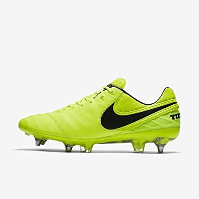 reputable site f1daa 435a0 Image Unavailable. Image not available for. Color  Nike Tiempo Legend VI SG-PRO  Volt ...