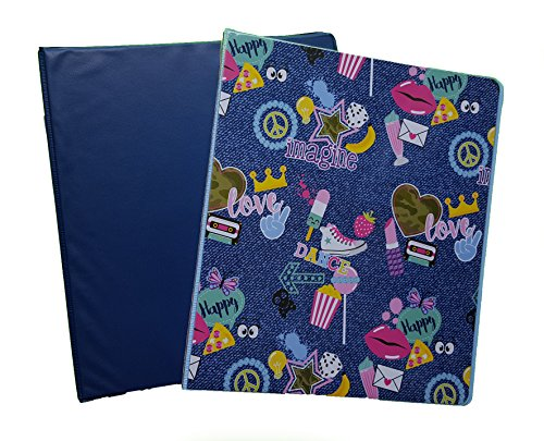 Fashion Colored Couture Vinyl 3-Ring Binders, 1'' Girls, Set of 2 (Navy) by The Spotted Moose