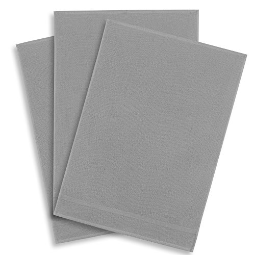 3er-Set Geschirrtuch Multifunktion Baumwolle grau, KRACHT, Edition ziczac-affaires, ca.50x70cm