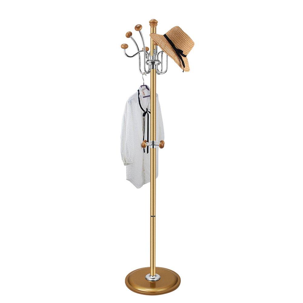 SUNSHINE Hangers 180cm Stainless Steel Floor-mounted Living Room Hanger Bedroom Vertical Coat Rack, 360 ° Swivel Hook
